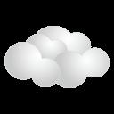 天気・曇りアイコン素材128px
