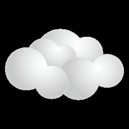 天気・曇りアイコン素材256px