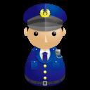 警察官アイコンのフリー素材128px