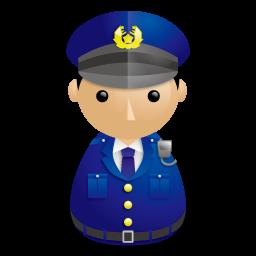 警察官アイコンのフリー素材256px