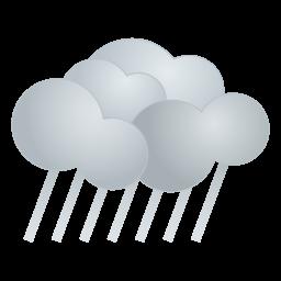 天気・雨アイコンのフリー素材256px