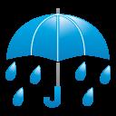 天気・雨3アイコンのフリー素材128px