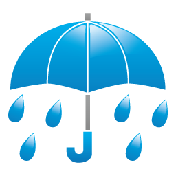 天気・雨3アイコンのフリー素材256px