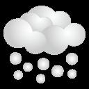 天気・雪アイコンのフリー素材128px