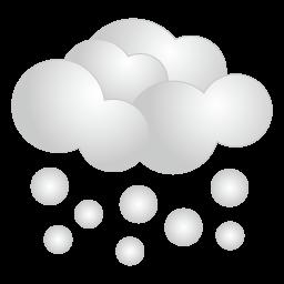 天気・雪アイコンのフリー素材256px