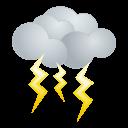 天気・雷アイコンのフリー素材128px