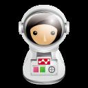 宇宙飛行士アイコンのフリー素材128px