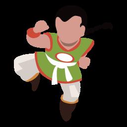 ドラクエの武闘家風シルエット