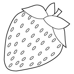 イチゴ 色なし