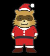 クリスマスたぬきサンタ